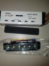 A-1432 Swift White Warning Emergency Safety 3 watt 6 Led light Head Dc 12/30V