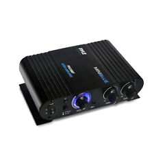Pyle 90 Watt 8 Ohm Bluetooth Mini Blue Compact Home Studio Class T Amplifier