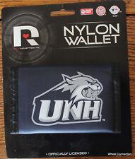 NEW HAMPSHIRE University Wildcats Velcro Nylon Wallet Licensed College Tri Fold