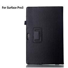 Funda protectora rebatible de cuero negro para ventana de Microsoft Surface Pro 3 4 5 Gen
