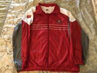 VTG San Francisco 49ers Sports Illustrated NFL Red Windbreaker Jacket XL Niners