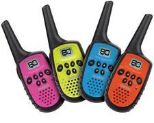 Uniden UH35-4 UHF 4 Handheld 80Ch Radio Walkie Talkies +4 Belts Quad Colour New