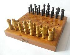 gift,   trench art ? pow ? ww2 ? ww1 ? Antique wooden chess vintage retro
