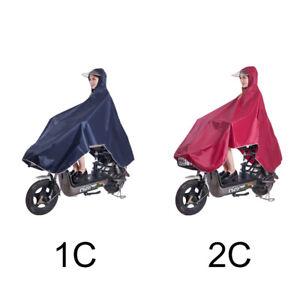 Bike Outdoor Cycling Raincoat Rain Cape Poncho Coat Windproof Thick Raincoat