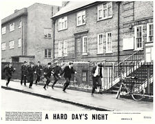Hard Day's Night original 1982 re-release lobby card police chase The Beatles