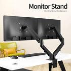 Adjustable Dual Arm Monitor Stand Bracket Gas Spring Computer Desk Mount VESA