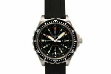 Marathon Jumbo Diver's Quartz (JSAR) 46mm Stainless Steel Case with Black Rubber Strap Men's Wristwatch