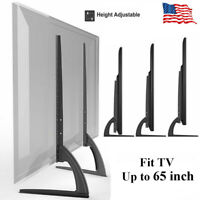 """Universal LCD Flat Screen TV Table Top Stand Base Padded Bottom Feet 32"""" to 65"""""""
