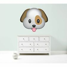 Emoji dog pet cute animal vet giant vinyl wall car decal sticker 5 size bedroom