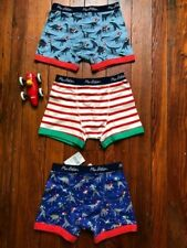* Mini Boden * Boxer Shorts Underwear Pack of 3 Festive Dinosaurs Size 8 9 New