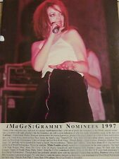 Garbage, Shirley Manson, Jonathan Davis, Korn, Double Full Page Vintage Pinup