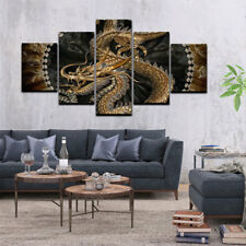 5pcs Modern Animal Dragon Art Oil Painting Print Canvas Picture Home Wall Decor
