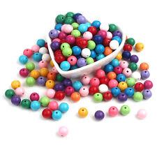 330pcs 14mm Acrylic Solid Beads for Pendant Charm Bracelet Necklace Bubblegum