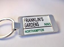 NORTHAMPTON SAINTS STADIUM BADGE ROAD SIGN KEY FOB GIFT