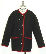 BLACK ~ BOILED WOOL ~ German Women SPORT Winter WARM Walk JACKET Coat / 14 16 L