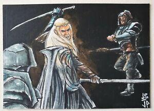 Cryptozoic The Hobbit BOTFA Sketch Card #5 Thranduil by Portraz & Hai