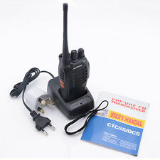 2x BF-888S Walkie Talkie 2-Way Radio with 4 headphone with Plug Adaptor Charger
