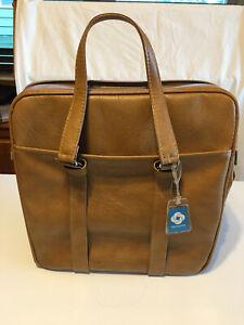 Vintage Brown/Tan Samsonite Silhouette Carry On Bag with key