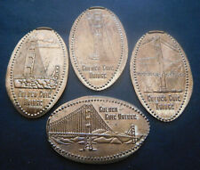 San Francisco,Ca. - Roundhouse Cafe - Four Copper Elongated Pennies