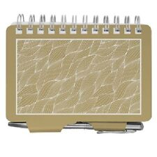 #2851 GOLD WAVES Wellspring Password Organizer Book w/Pen White Ocean Water