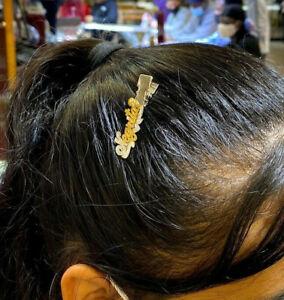 14k gold overlay name hair clip