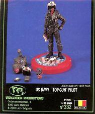 Verlinden 1:35 US Navy Top Gun Pilot w/Accessories 2 heads Resin Figure Kit #332