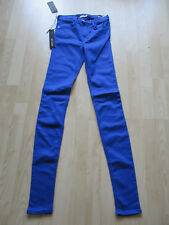 "ladies REPLAY BLUE SKINNY HIGH WAIST JEGGINGS SIZE 25"" W - 34"" L NEW WITH TAGS"