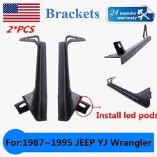 "For 1987-1995 Jeep YJ Wrangler Mounting Bracket W/ A-Pillar fit 52""LED Light Bar"