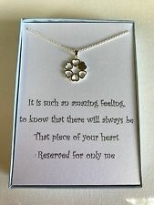 Sterling silver plated Love Heart necklace w/ love poem for your wife/girlfriend