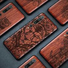 Per Xiaomi Mi 10 9 8 Note 10 Redmi Note 9 8 7 Legno Silicone Custodia Case Cover