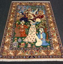 Orient Teppich Seide 147 x 110 cm Perserteppich Bildteppich Handgeknüpft Carpet