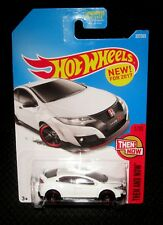2017 Hot Wheels 16 Honda Civic Type R (White) #327 Then and Now #1 Rare HTF Car