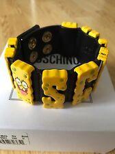 MOSCHINO COUTURE X Jeremy Scott Sponge Bob giallo Bracciale LTD EDT & DISP.