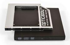 Opticaddy SATA-3 HDD/SSD Caddy+boîtier DVD Toshiba Portege R840 R850 R930