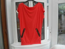 ATMOSPHERE ORANGE  JERSEY  SLEEVELESS  DRESS/TOP  WITH  GOLD ZIPS  SIZE  8