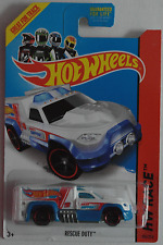 "Hot Wheels - Rescue Duty weiß/blau ""HW Racing"" Neu/OVP US-Card"