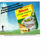 PUBLICITE ADVERTISING 054  1978   KNORR  potage EXPRESS  poireaux pdt
