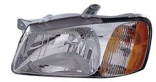 Left/Driver Side Headlight Assembly Fits 2000-2002 Hyundai Accent