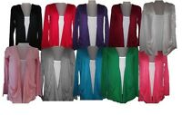 Ladies woman Long Sleeve boyfriend top cardigan vest tops 8-20