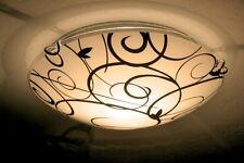 Plafonnier Design Rondelle Lustre Lampe à suspension Luminaire Noir/Blanc 35606