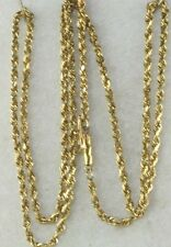 USED 14K GOLD 20 INCH ROPE CHAIN NECKLACE  7.5 GRAMS