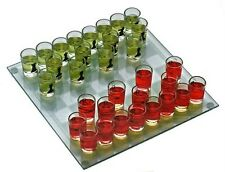 Chess Set Party Drinking Game with 32 Shot Glasses and board Brand New Sealed