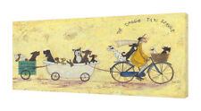Sam Toft - The Doggie Taxi Service - 50 x 100cm Canvas Print Wall Art WDC93185