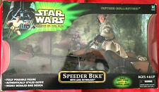 """Star Wars POTJ SPEEDER BIKE w/ Luke Skywalker 12"""" inch Figure Hasbro New SEALED"""