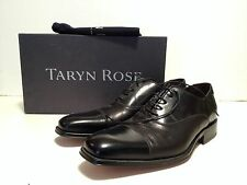 Taryn Rose Men's Black Leather Lace Up Cap Toe Oxford Shoes With Shoe Bags sz 10