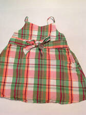 Gymboree -  Coral Reef - plaid bow tank top size 6