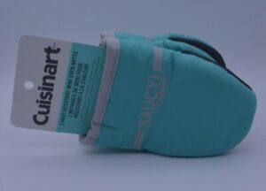 Cuisinart Mini Oven Gloves Mitts In Green With Heat Resistant Silicone