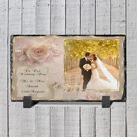 Personalised Photo Slate - Wedding Gift - Keep Sake Personalised Wedding Frame