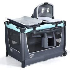 4 in 1 Convertible Portable Baby Playard Newborn Napper w/Music Box Mint Green