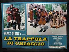 FOTOBUSTA CINEMA - TRAPPOLA DI GHIACCIO - WALT DISNEY - 1961 - AVVENTURA - 04